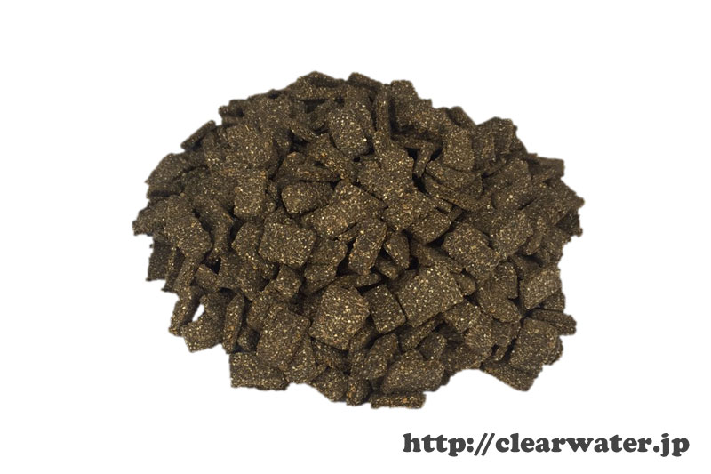 Calcium enriched shrimp feed
